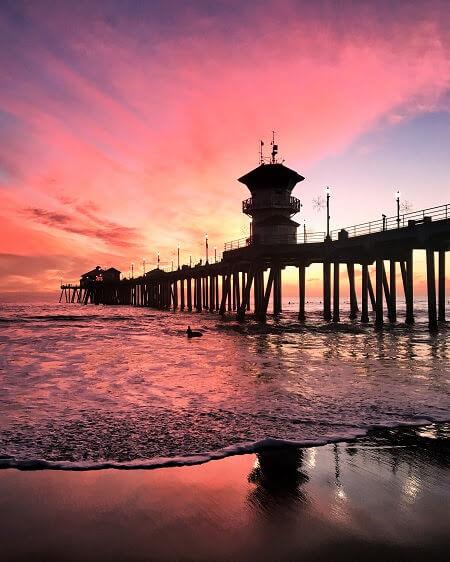 Best Beaches in Southern California Huntington Pier in Huntington Beach
