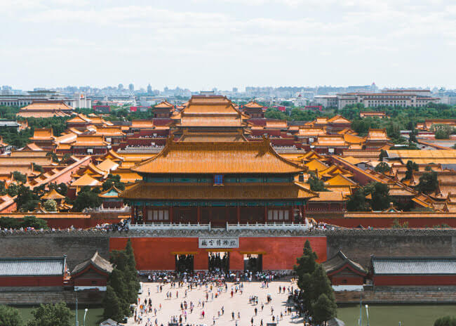 Travel Themed Cards Forbidden City of China