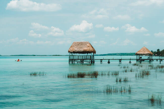 Bacalar Lagoon In Mexico