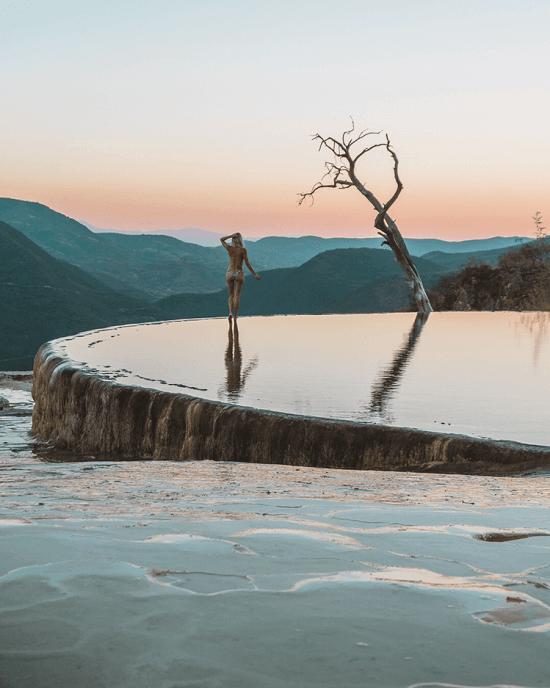 Hierve El Agua In Oaxaca Mexico