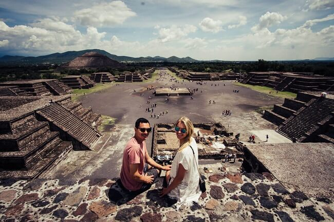 Pyramid of the Moon in Teotihuacan Mexico City